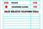 Bezpečnostní tabulky – Důležitá telefonní čísla