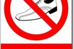 Zákaz vstupu v botách