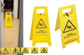 Výstražný stojan- tabule – Pozor! Kluzká podlaha