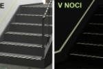 Páska fotoluminiscenční na schodiště, zábradlí, chodby